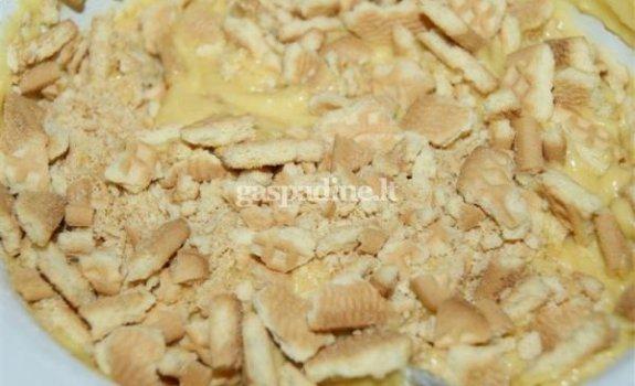 Moliūgų pyragas su sausainiais