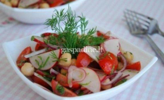 Paprastos salotos su ridikėliais