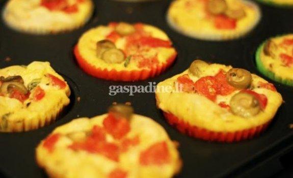 Keksiukai su pomidorais ir mocarela
