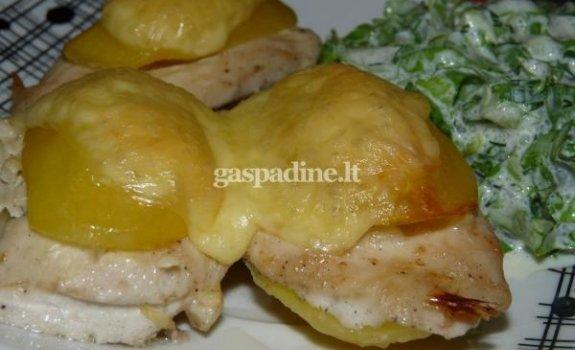 Vištienos kepsniukai bulvėje