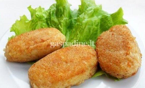 Bulvių kotletai su silke