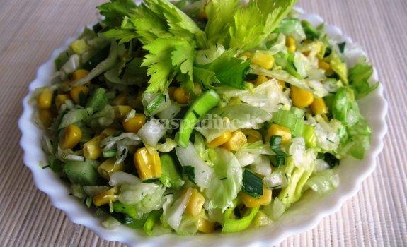 Žaliai - geltonos salotos