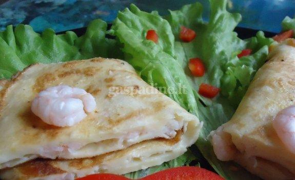 Pusryčių omletas su krevetėmis