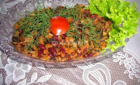 Grybų troškinys su daržovėmis
