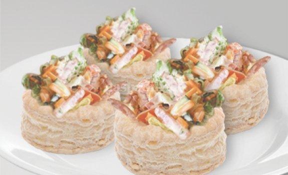 Šulinėliai  su korėjietiškomis morkų salotomis