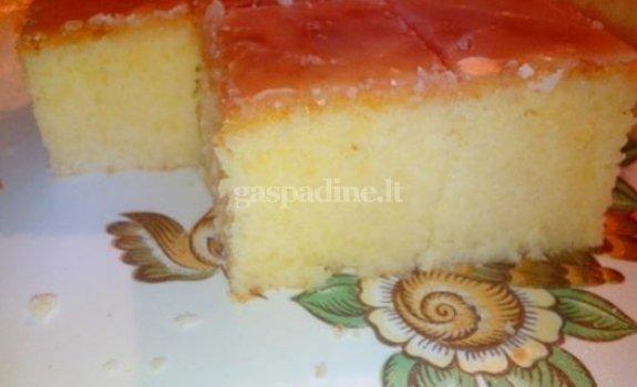 Citrininis pyragas-keksas (Lemon Pound Cake)