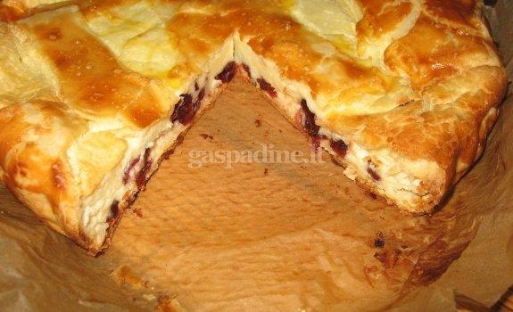 Varškės su spanguolėmis pyragas