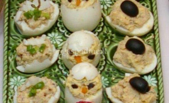Įdarytų kiaušinių asorti