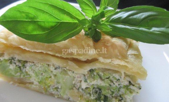 Brokolių ir fetos pyragas