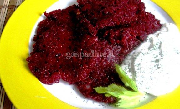 Burokėlių blynai (pasninko valgis)