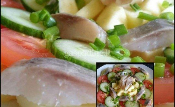 Silkė su daržovėmis ir obuoliais