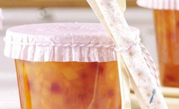 Abrikosų ir persikų džemas (su mažesniu kalorijų kiekiu)