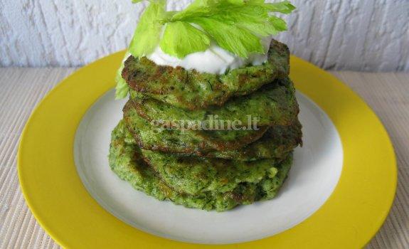 Skanieji brokolių blyneliai