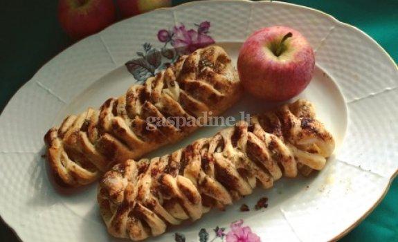 Sliuoksniuotos tešlos pynė su obuoliais