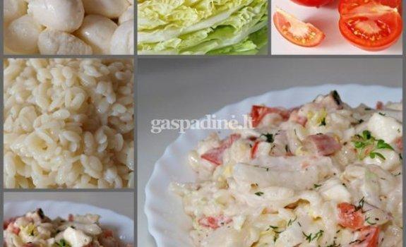Kalmarų salotos su Mocarela