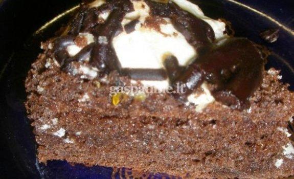 Šokoladinis graikinių riešutų pyragas