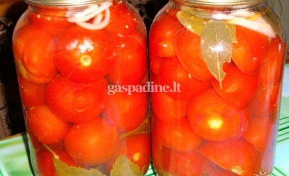 Konservuoti pomidorai be acto