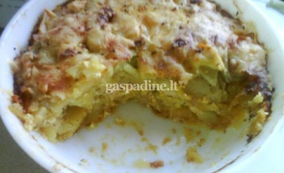 Bulvių apkepas su svogūnais