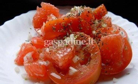 Pomidorų salotos su greipfrutais