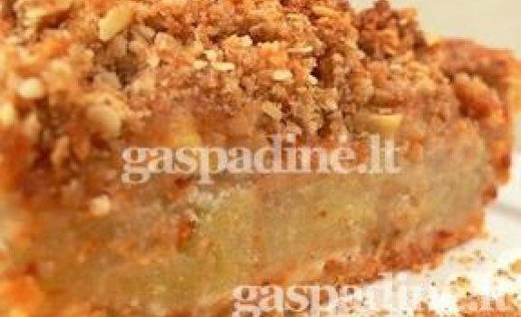 Greitas obuolių pyragas be tešlos