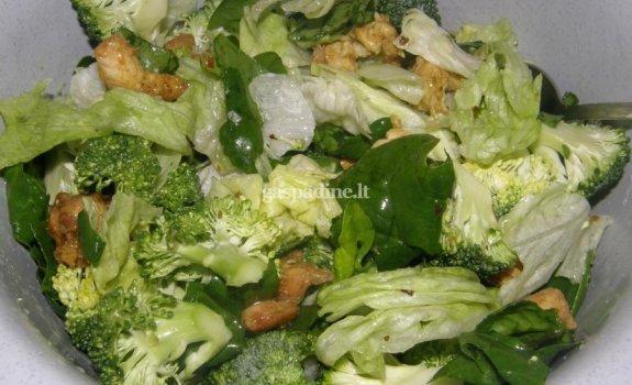 Žaliosios salotos su vištiena