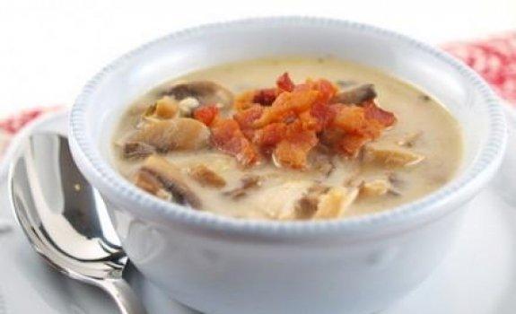Grybų sriuba su kalakutiena