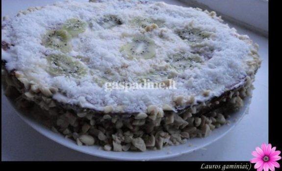 Varškės ir kivio tortas