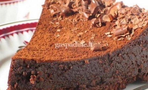 """Šokoladinis pyragas """"Kiekviena diena kaip šventė"""""""