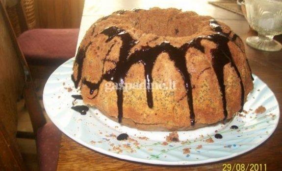 Šokoladinis keksas su aguonomis