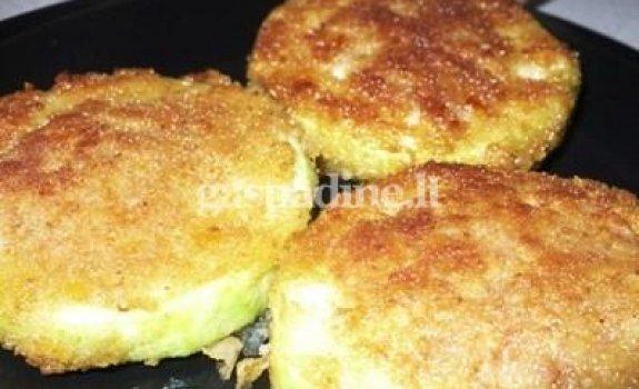 Cukinijų kepsneliai su sūrio įdaru