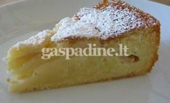 Greitai paruošiamas obuolių pyragas