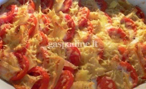 Bulvių ir pomidorų apkepas