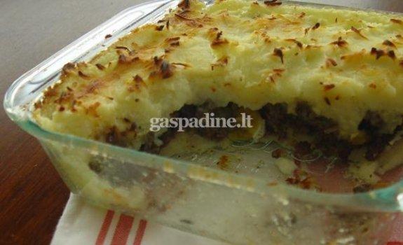 Argentinietiškas bulvių ir jautienos apkepas