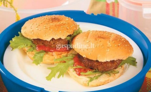Mėsainiai su kečupu