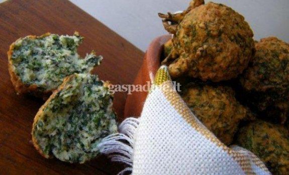 Mangoldų ir parmezano sūrio kukulaičiai
