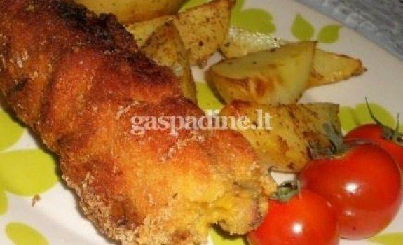 Šoninės, dešrelių, svogūnų ir sūrio vėrinukai
