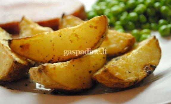 Skrudintos česnakinės bulvės