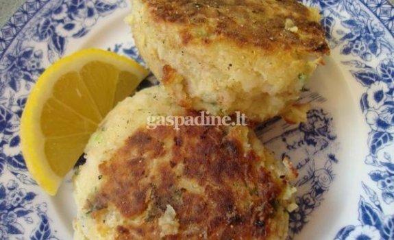 Citrininiai bulvių ir tuno kotletai