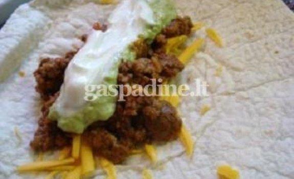 Jautienos burritos