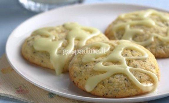 Aguoniniai sausainiai su glazūra