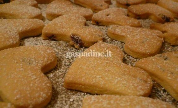 Trapios tešlos sausainiai su spanguolėmis
