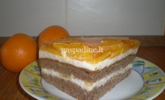 Jogurto - grietinėlės pyragas